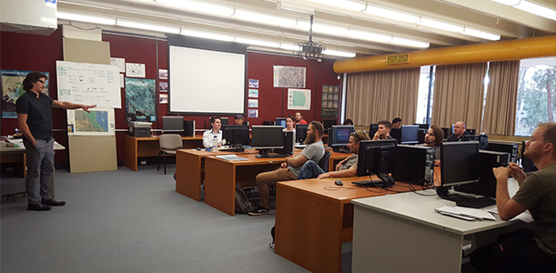 Indesco Civil Designer James Suman presents to Engineering students at Canberra Institute of Technology